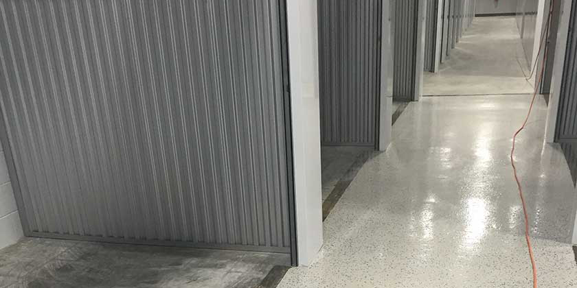 Storage Facility - epoxy coating